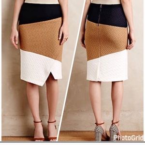 Anthropologie Knit Colorblock Pencil Skirt